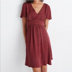 Madewell V-Neck Fit-and-Flare Dress Dot Jacquard 0
